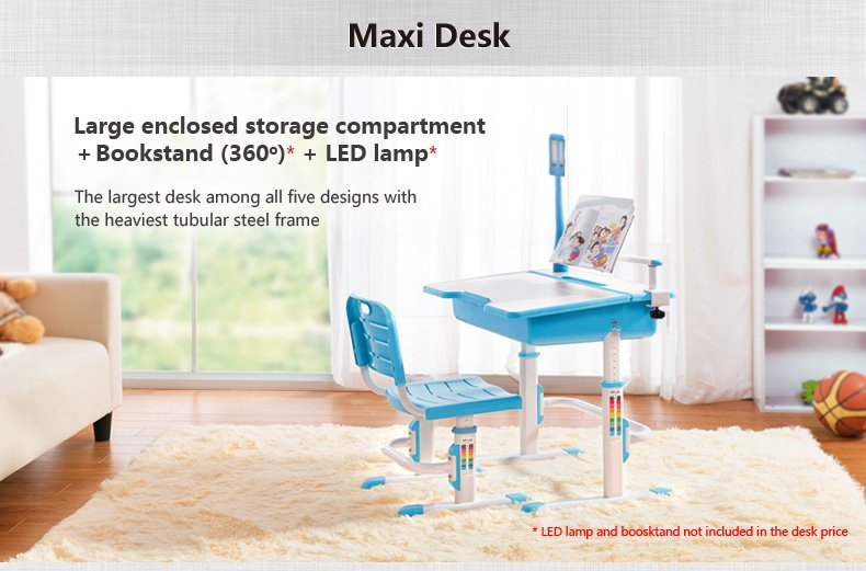 Maxi multifunctional ergonomic kids desk chair info 02