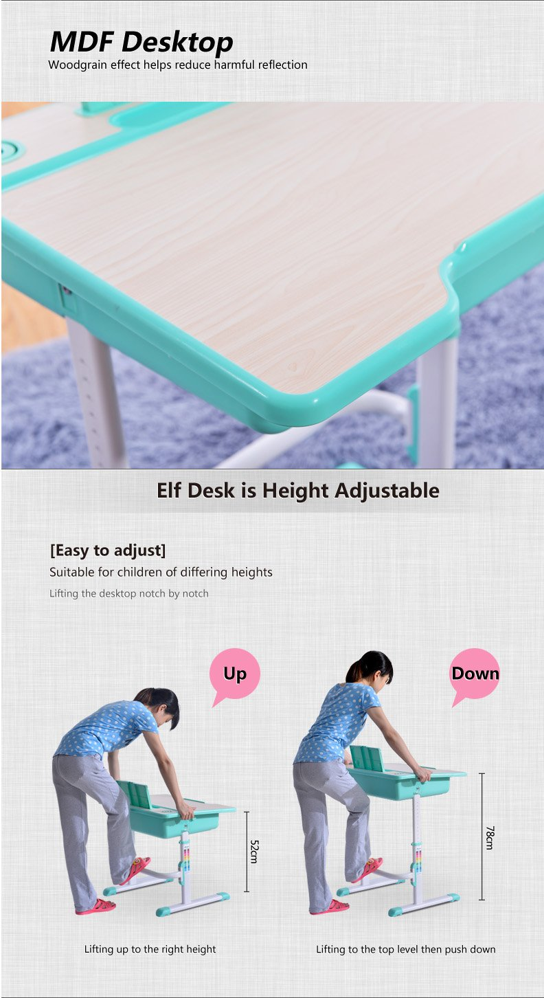 Best Desk kids adjustable desk chair Elf description 3