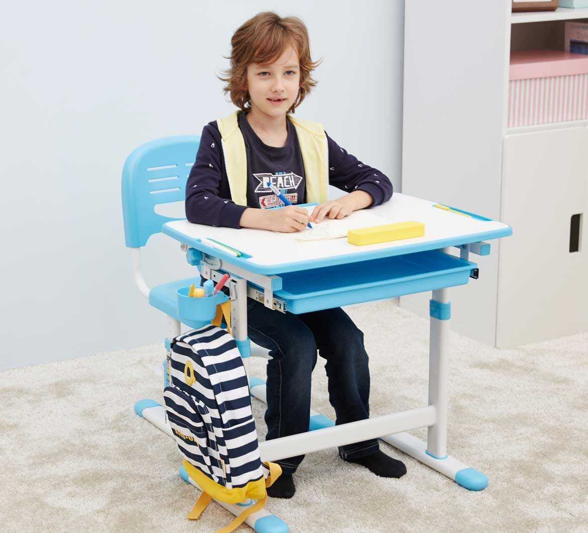 Mini Blue Desk is Great for Kids