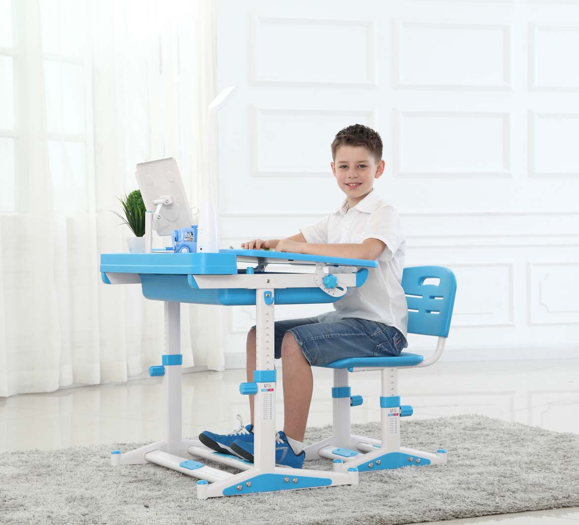 Children Enjoy Learning on Sprite Blue Desks