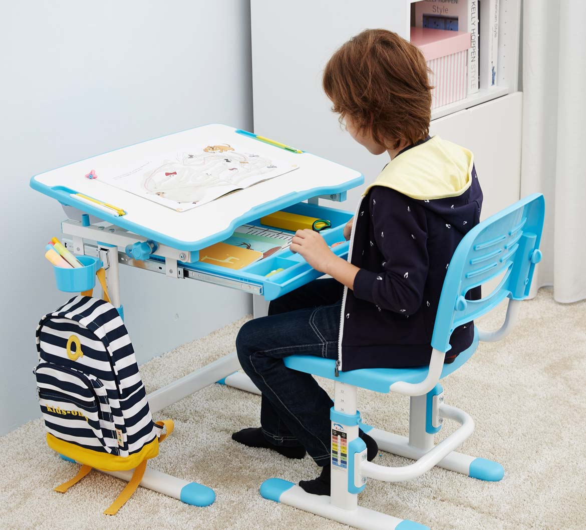 kids-table-chair-study-desk-with-tilt-desktop-blue-desk-for-boys-and-girls-portfolio-mini-blue-2