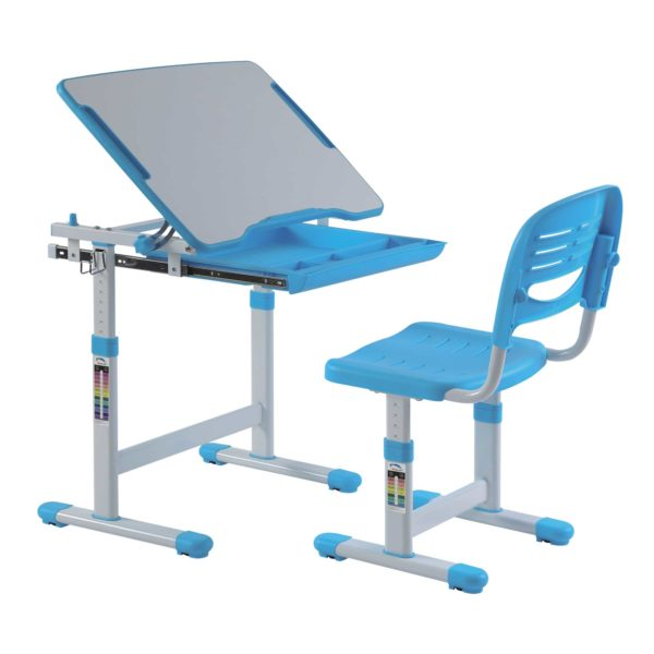 Mini blue desk best desk quality children desks chairs for Best desk chair for kids