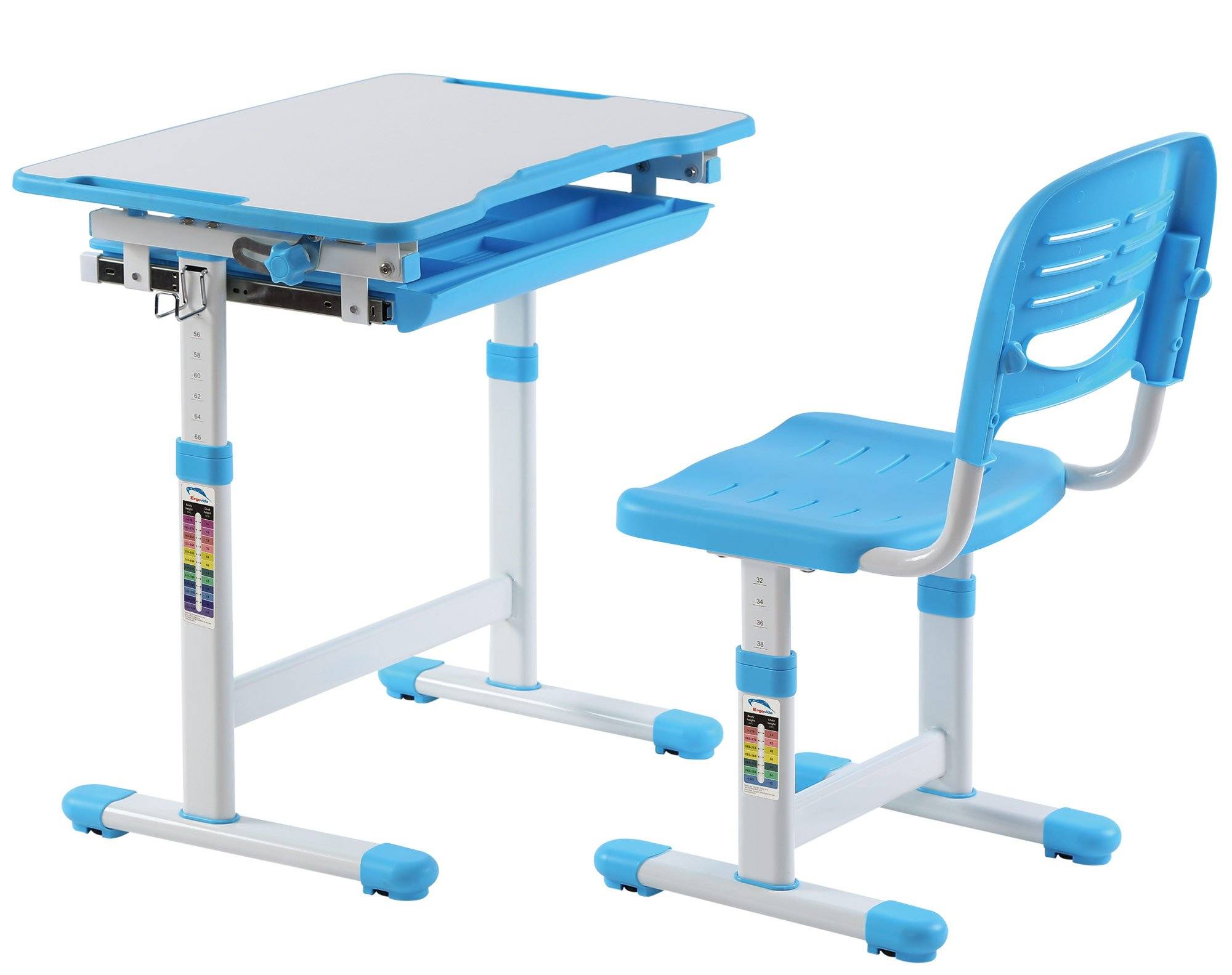 Best desk height adjustable children desks chairs for Best desk chair for kids