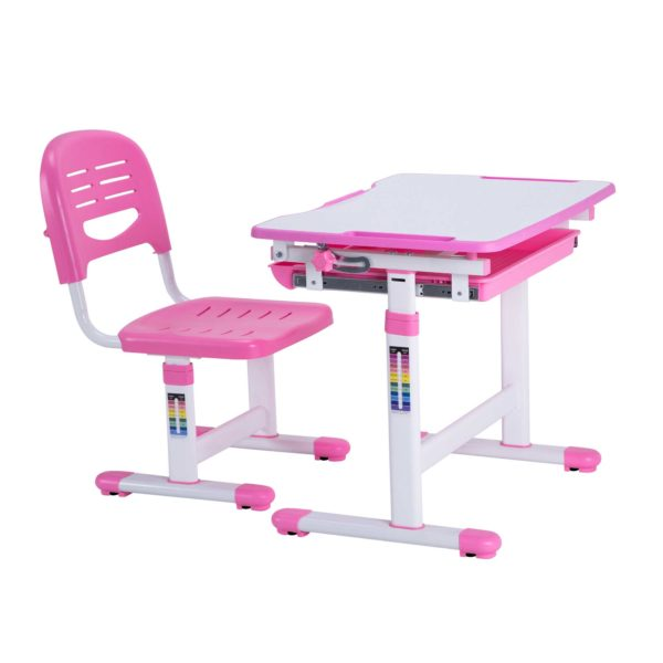 Height-Adjustable-Kids-Table-Ergonomic-Kids-Study-Desk-Chair-Pink-Desk-for-Girls-00