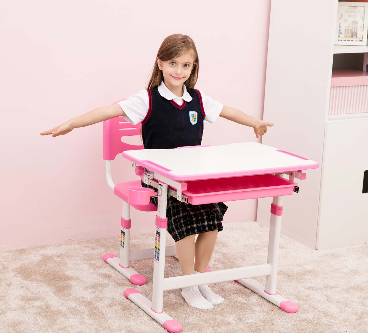 Beautiful Pink Desk for Girls
