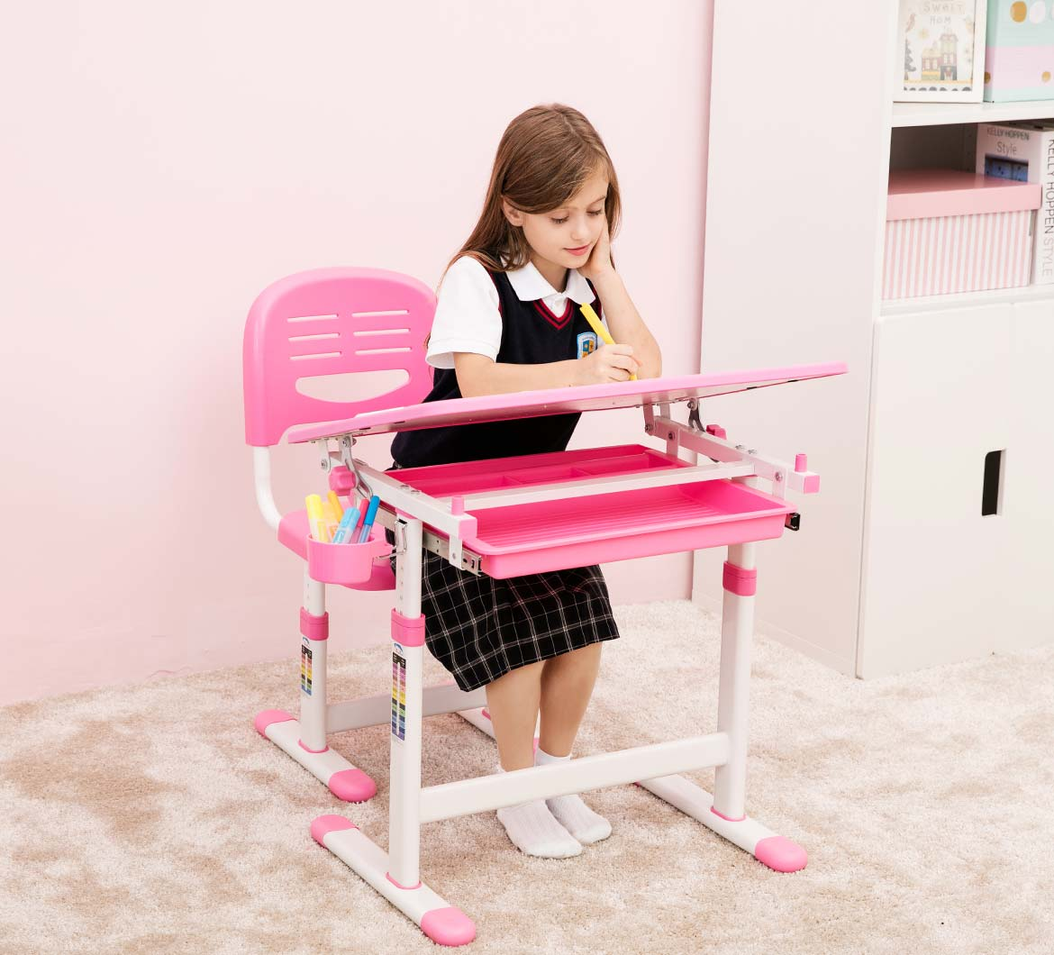 height-adjustable-kids-desk-chair-ergonomic-pink-table-for-girls-portfolio-mini-pink-2