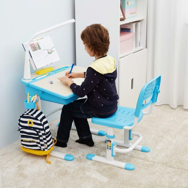 Superb Chacha Blue Desk Caraccident5 Cool Chair Designs And Ideas Caraccident5Info