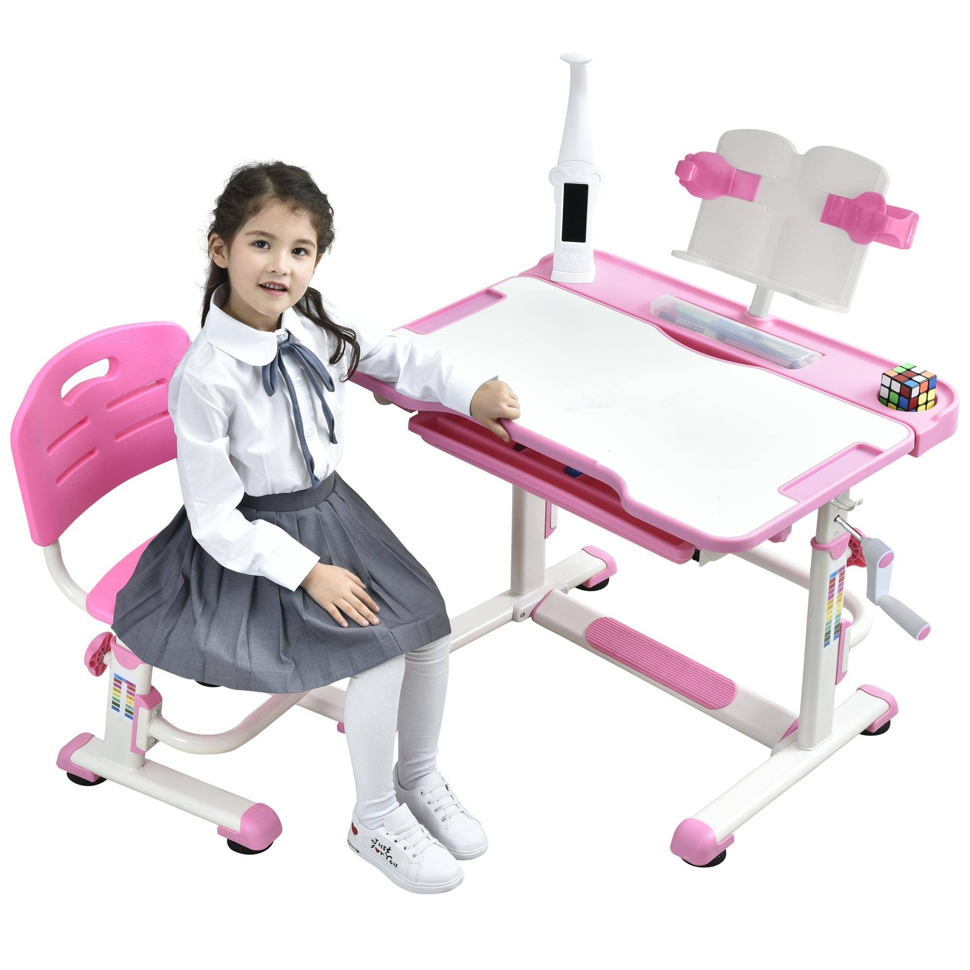 kids-desk-chair-height-adjustable-table-for-kids-Sprite-pink-desk-for-girls-01