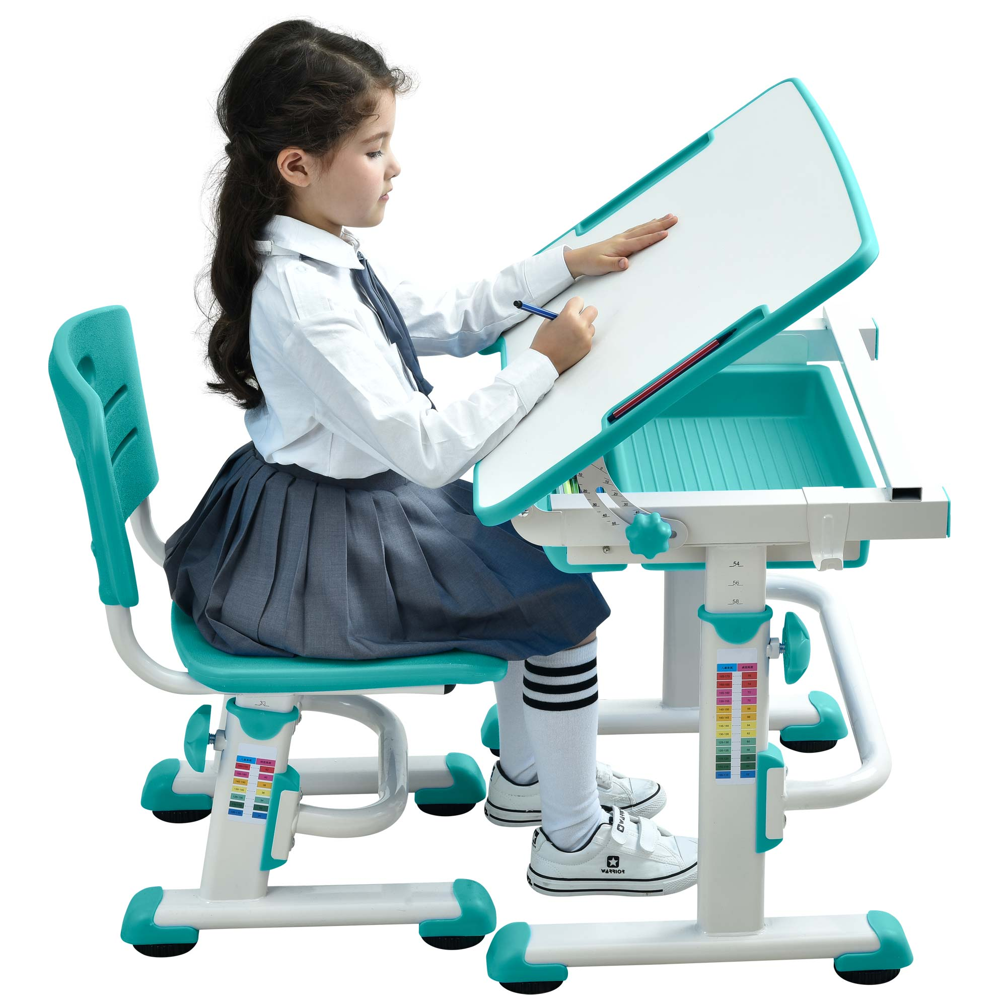 adjustable-kids-desk-for-study-table-for-children-ergonomic-children-learning-table-green-desk-02