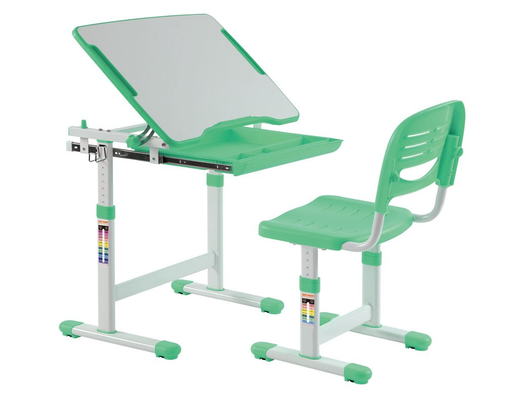 best-desk-height-adjustable-kids-desk-children-table-green-desk (13)