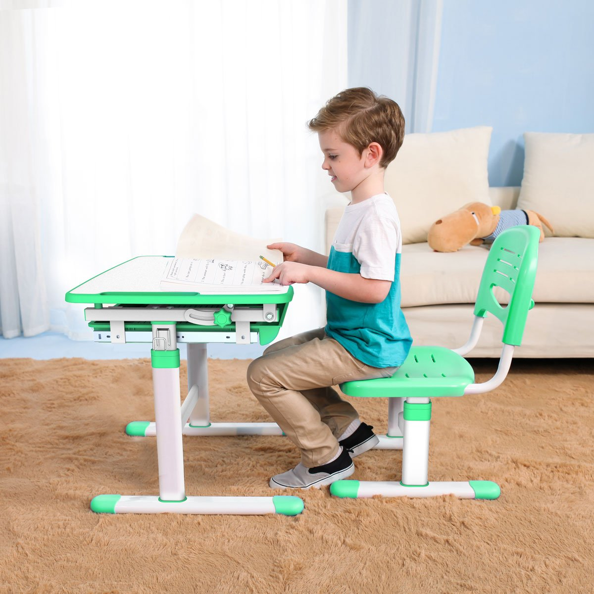 kids-table-chair-children-study-desk-green-desk-1